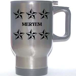 Personal Name Gift   MERYEM Stainless Steel Mug (black