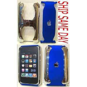 Blue Chrome Iphone Hard Case Cover Skin for 3g / 3gs Cell