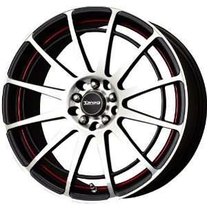 Drag D42 Racing Black Machined Wheel (17x7.5/4x100mm
