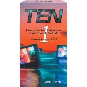 Ten   Commandments 10 & 9 [VHS] J John Movies & TV