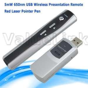 5mw 650nm Red Laser Pointer Pen USB Wireless Presentation
