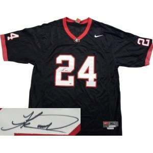 Knowshon Moreno signed Georgia Bulldogs Nike Black Jersey