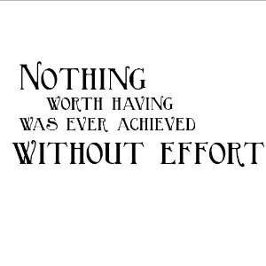 Without Effort wall sayings vinyl lettering home decor stickers quotes