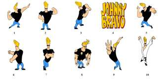 Johnny Bravo Return Address Labels Favors Tags Gift BUY 3 GET 1 FREE