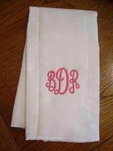 Baby Girl Personalized Cloth Diaper Burp Pad  Monogram