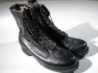 VTG 1983 ADDISON Mililtary Lace & Zip Jump Boot Combat 8 Leather Men