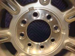 FOR SALE IS A USED GM CHEVY 8 LUG ALUMINUM WHEEL 17X8.5 18mm offset