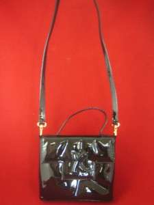 PALOMA PICASSO ITALY Black Patent Leather NEW Shoulder Evening Bag