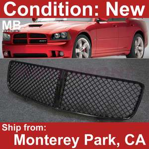 Dodge Charger 06 10 Front Bumper Hood Center Grille Glossy Black 3 D