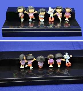 Lot 6pcs DORA Explorer Action Figure Mini Doll Set