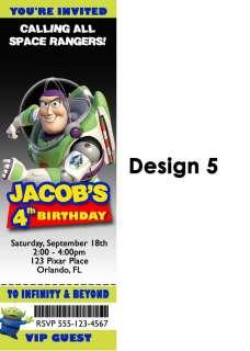 Toy Story Birthday Party Invitation Custom Photo Woody Buzz
