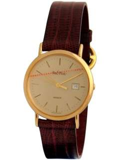 NEW SWISS PAUL PICOT MEN GOLD PLATED QUARTZ WATCH 80S
