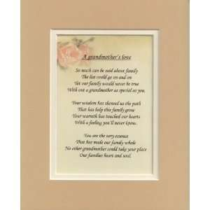 A Grandmothers Love   Poetry Gift: Home & Kitchen