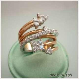 Anello oro bianco e rosa fantasia diamanti Valore 1860