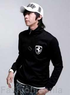 Mens Slim Fit Hoodie Sweatshirt Zip Up Jacket Black Z17