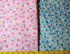 Hello Kitty fabric   Hearts   white Polka dots on blue   63 wide BTY