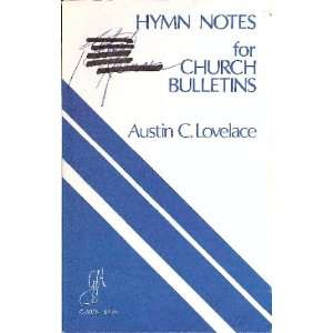for Church Bulletins/G3076 (9780941050098): Austin C. Lovelace: Books