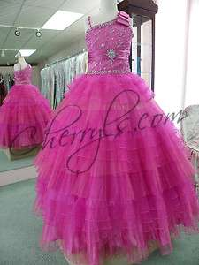 Perfect Angels 1416 Pink 8 Pageant Dress NWT