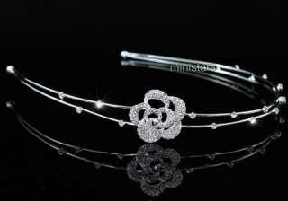 Bridal Bride / Flower Girl Rose Headband Tiara T1447