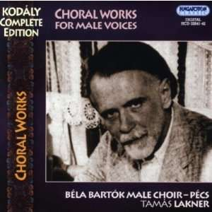 (2cd) Zoltan Kodaly, Tamas Lakner, Bela Bartok Male Choir Books