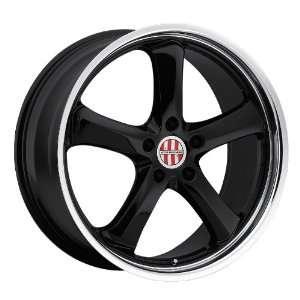 18x8 Victor Turismo (Black w/ Mirror Lip) Wheels/Rims