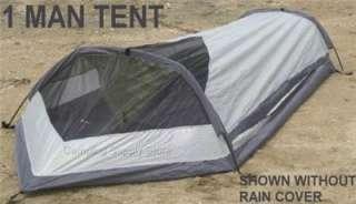 NEW 1 Man HIKING Camping BIKER Tent w/ Rain Cover beach