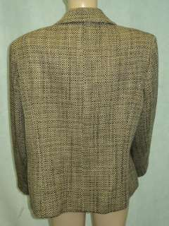 TALBOTS Brown Tweed Wool Jacket Blazer Plus Sz 20W
