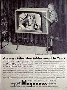 1952 Magnavox TV 27 Television little boy vintage ad