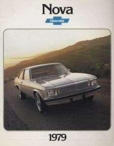 1979 Chevrolet Chevy Nova Final Sales Brochure Book