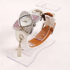 Hello Kitty Diamante Watch Wristwatch White