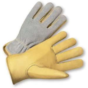West Chester 993K Leather Glove, Shirred Elastic Wrist Cuff