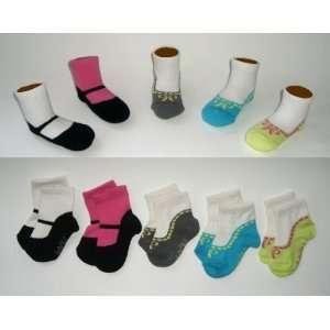 Girls Baby Shoe Socks Gift Set, Funky Feet Variety Pack B, 0 12 Months