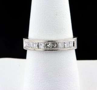 54 CARAT PRINCESS CUT DIAMOND WEDDING ANNIVERSARY RING 14K WHITE GOLD