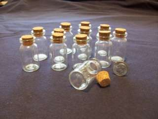 Small Glass Bottles w/Cork Stoppers 60 Piece Set