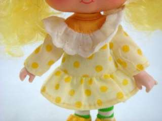 Greeting Strawberry Shortcake Lemon Meringue Doll With Yellow Bows