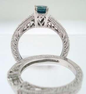 & WHITE DIAMOND ENGAGEMENT RING & WEDDING ANNIVERSARY BAND SETS 14K