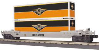 MTH Harley Davidson Freight Cars Railking Bulk Lot of 5