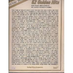 John Lanes White Book   52 Golden Hits (Easy Piano Arrangements / Big