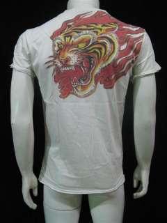 Japanese Yakuza Tiger Tattoo Vintage Rock T Shirt Men M