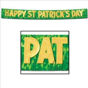 Metallic Happy St. Patricks Day Banner Case Pack 30