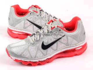 Nike Wmns Air Max+ 2011 Neutral Grey/Solar Red Running 429890 061