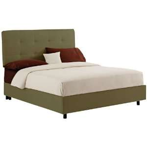 Sage Microsuede Tufted Bed (Full): Kitchen & Dining