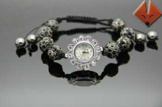 Shamballa Bracelet Watch Swarovski Crystal Disco Ball Beads Friendship
