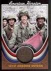 2009 American Heritage Heroes Heroism Relic 101st Airborne Paratrooper