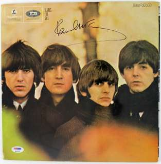 PAUL MCCARTNEY BEATLES FOR SALE SIGNED ALBUM COVER W/ VINYL PSA/DNA