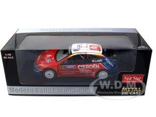 Brand new 1:18 scale diecast model of Citroen Xsara WRC #3 S.Loeb/D