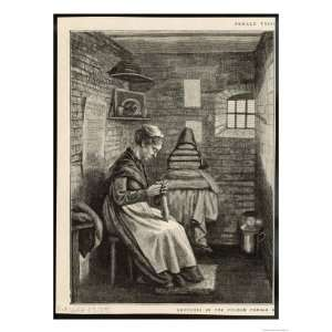 Women Working in Her Cell at This Female Prison Giclee