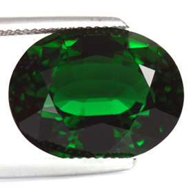 15.84ct Phenomenal Sized Oval Green Chrome Tourmaline