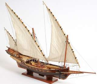 Xebec Wooden Pirate Model Ship Sailboat 35 Boat