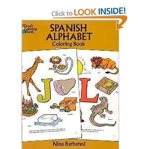 Spanish Alphabet Coloring Book (Dover Childrens Bilingual Coloring